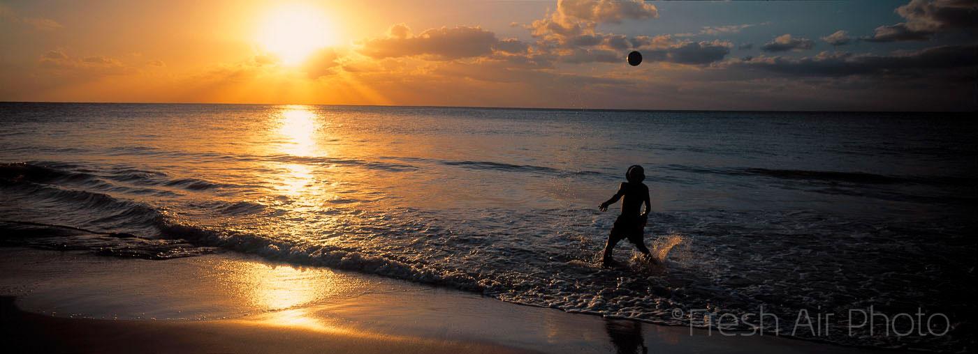 Reggae Boy - beach sunset