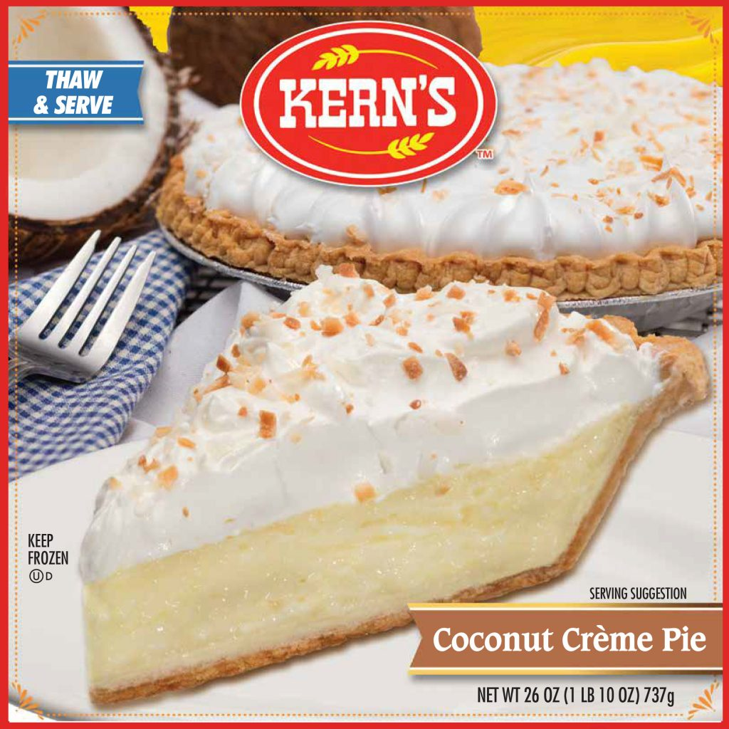 KERNS CREAM PIE Coconut Specialty Baker 8234