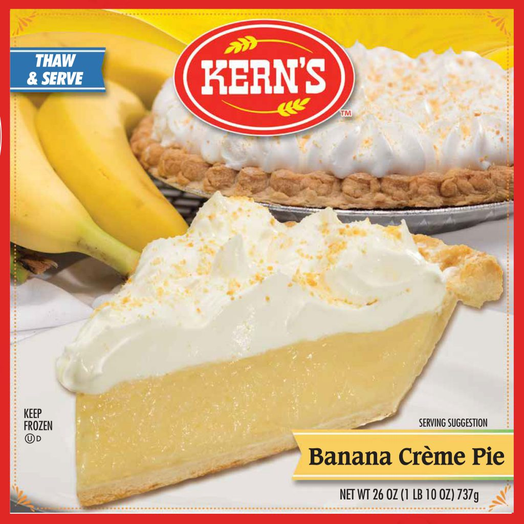 KERNS CREME PIE Banana Specialty Baker 8234