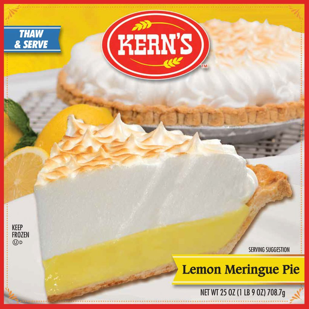 KERNS PIE Lemon Meringue Specialty Baker 8234